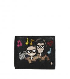Dolce & Gabbana Black Patch Family Man Wallet