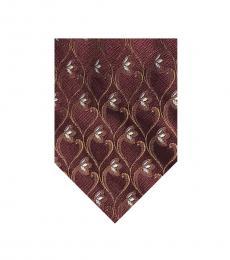 Valentino Garavani Burgundy Floral Ritzy Tie