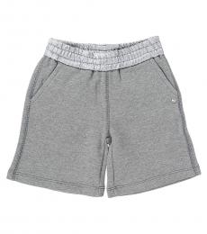 Diesel Baby Girls Grey Solid Shorts