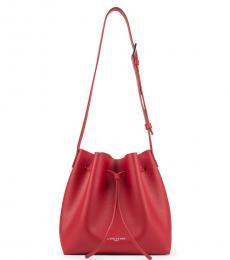 Lancaster Paris Red Pur Small Bucket Bag