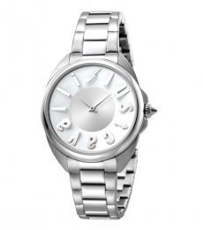 Silver Logo Stylish Watch
