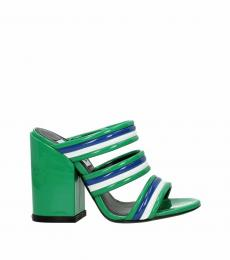 Green Patent Leather Strappy Heels