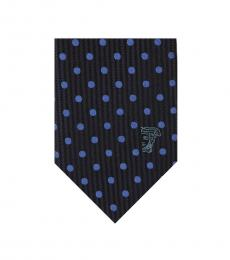 Versace Blue Embroidered Tie