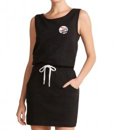 Black Baseball Romper Dress