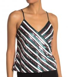 Diane Von Furstenberg Multi color Sequin Tank Top