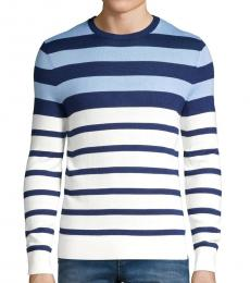 Calvin Klein Cream Striped Wool-Blend Sweater