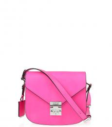 Pink Solid Small Crossbody
