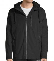 Black Convertible Hooded Zip Jacket