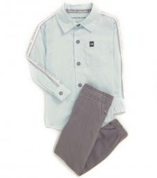 Calvin Klein 2 Piece Shirt/Joggers Set (Baby Boys)