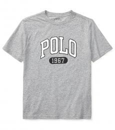 Ralph Lauren Boys Andover Heather Graphic T-Shirt