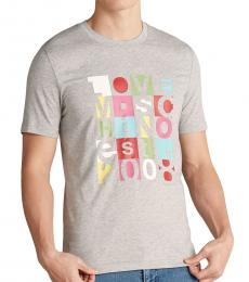 Grey Outline Boxes Logo Graphic T-Shirt