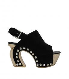 Alexander McQueen Black Slingback Curved Heels