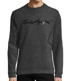 Karl Lagerfeld Charcoal Graphic Long-Sleeve Sweatshirt
