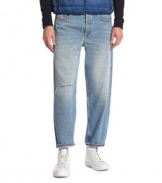 Diesel Blue Dagh Ripped Leg Jeans