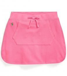 Ralph Lauren Girls Baja Pink Mesh Skort