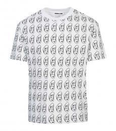 McQ Alexander McQueen White Logo allover t-shirt