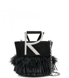 Roger Vivier Black Fringe Mini Bucket Bag