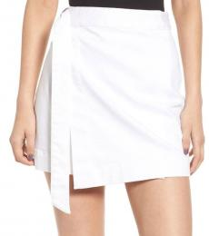 AG Adriano Goldschmied White Asymmetrical Wrap Skirt