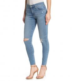 AG Adriano Goldschmied Blue Farrah High-Rise Ankle Skinny Jeans