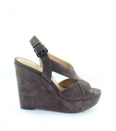 Michael Kors Taupe Becky Wedges