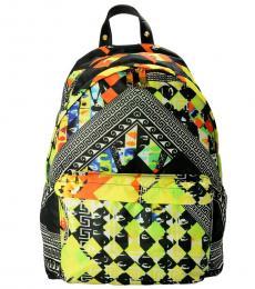 Multicolor Patterned Large Backpack