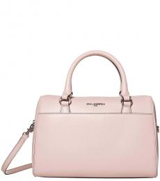 Karl Lagerfeld Dusty Rose Iris Medium Satchel