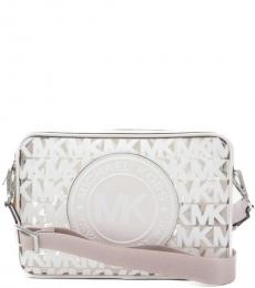 Michael Kors White Fulton Sport Medium Crossbody