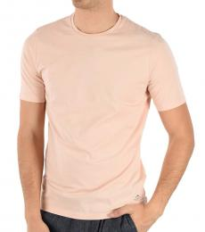 Pink Cotton Crewneck T-Shirt