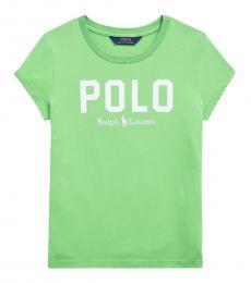 Ralph Lauren Girls New Lime Polo T-Shirt