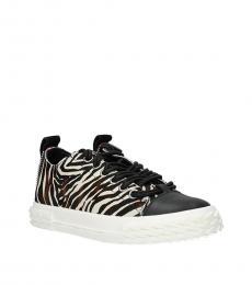 Giuseppe Zanotti Beige Animal Print Sneakers