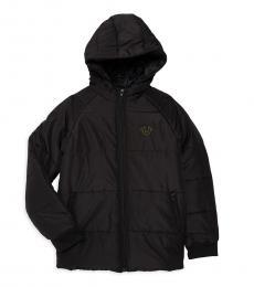 True Religion Boys Black Puffer Jacket