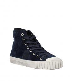 Philippe Model Blue Vintage High Top Sneakers