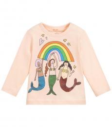 Stella McCartney Baby Girls Pink Rainbow T-Shirt