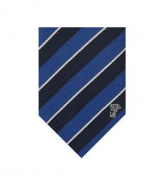 Versace Blue Navy Stripe Tie