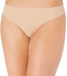DKNY Beige Logo Thong Underwear