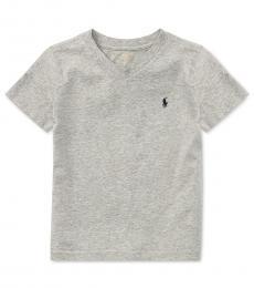 Ralph Lauren Little Boys Andover Heather V-Neck T-Shirt