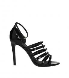 Salvatore Ferragamo Black Front Logo Heels