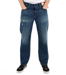 Diesel Dark Blue Wide Leg D-Kodeck Jeans