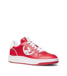 Michael Kors Bright Red Gertie Logo Sneakers