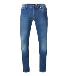 Love Moschino Blue Straight Leg Jeans