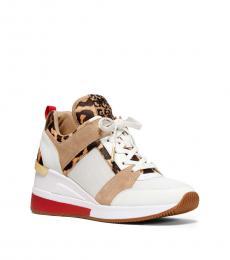 Michael Kors White Natural Georgie Sneakers