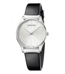 Calvin Klein Black Classic Silver Dial Watch