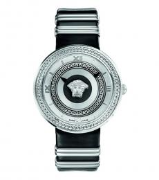 Versace Black Vanity Logo Watch