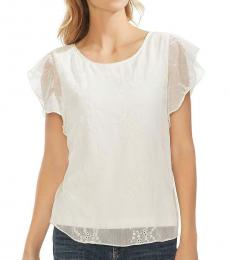 Pearl Ivory Eyelet Embroidered Top