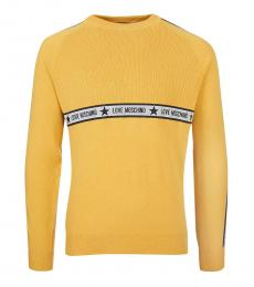 Love Moschino Yellow Centre Logo Sweater