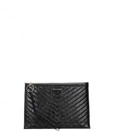 Rebecca Minkoff Black Pattern Clutch