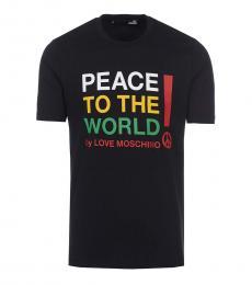 Love Moschino Black Graphic Logo T-Shirt