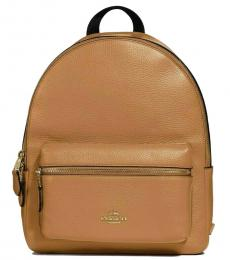 Coach Light Brown Charlie Large Backpack