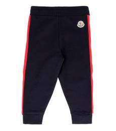 Moncler Baby Boys Navy Tricolored Striped Sweatpants
