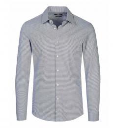 Hugo Boss Blue Fitted Cut Shirt
